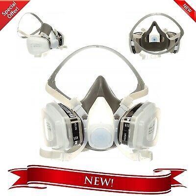 Dust Paint Mask 3M Half Facepiece Respirator Assembly Respiratory Protection New
