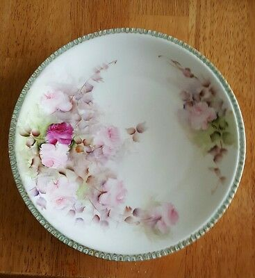 """Limoges Handpainted Plate 8 3/4"""", made in France"""