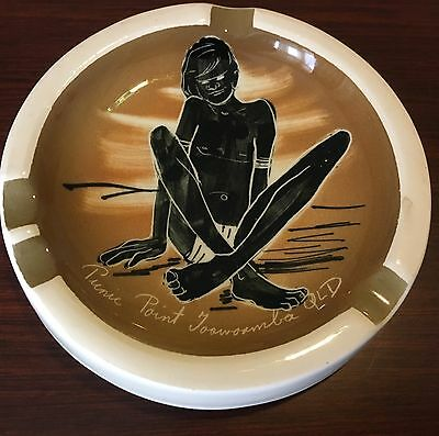 Vintage Collectable Australian Studio Anna Pottery Hand Painted Ashtray