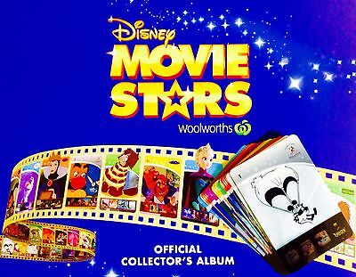 Woolworths Disney Movie Stars Cards Complete Set in Album