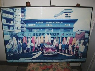 VINTAGE1960s SURFING POSTER - LES PURCELL SURF SHOP