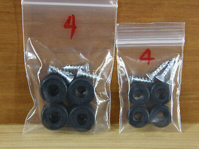 "NEW! Silicone Rubber Bumper Feet (SMALL 1/2"")(5/8"")(7/8"") Utility BLACK (FIRM)"