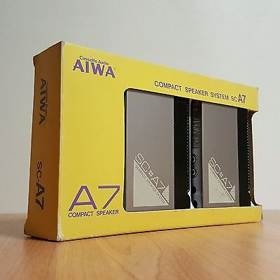 Kit 80's 2 enceintes AIWA SC-A7 compact speaker boxed