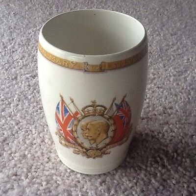 King George V & Queen Mary Silver Jubilee Beaker 1935 - Collectable