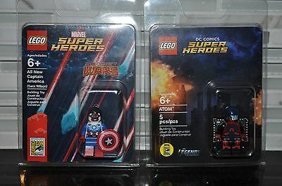 Lego Sdcc Comic Con 2015 Captain America Sam Wilson & 2016 Atom Ray Palmer New