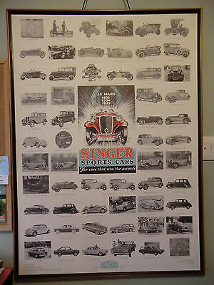 SINGER MOTOR CARS: Poster, Marque History, Service Guide and Colour Brochure