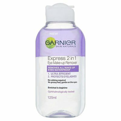 Garnier Skin Natural 2 in 1 Eye Make Up Remover Cleansing Water 125 ml Protector