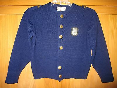 Vintage NY Jr. Policeman Authentic Playsweater - Rugby - 1950s - Buttons/Patch