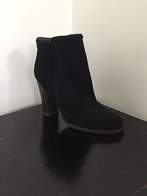 Wittner Black Suede Ankle Boots Size 40