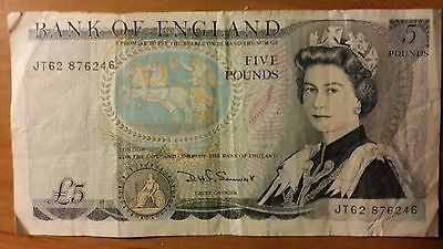 Bank of England Five Pound Note