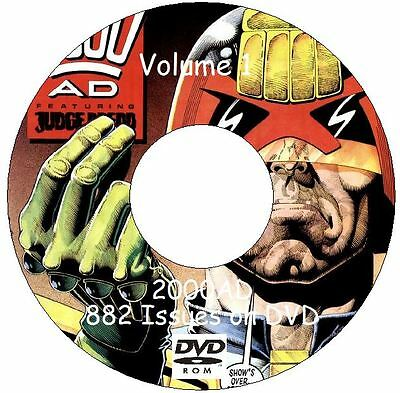 2000AD Judge Dredd Collection Over 1500 stories on 2 DVDs