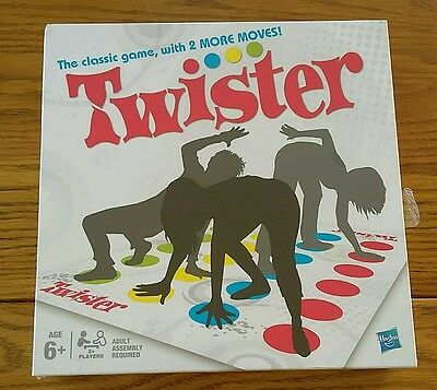 Twister The Classic Game with 2 More Moves! Fun Family Party Board Game