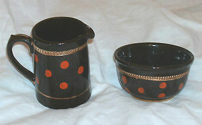 High Quality Vintage 1940S/50S English Cream & Sugar Set In Good Condition