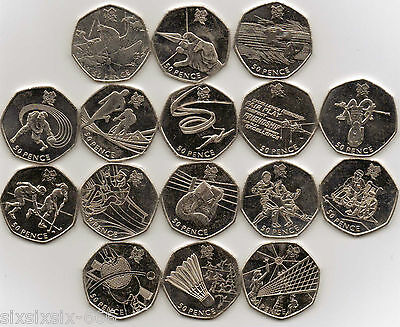 2011 Various (Circulated) Olympics 2012 50p Coins - From £1.00