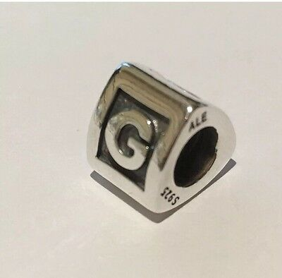 Authentic Pandora Sterling Silver Letter Charm 790323G Retired & Rare