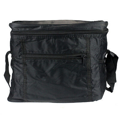 Fashion Black Thermal Cooler Waterproof Insulated Portable Tote Picnic Lunch Bag