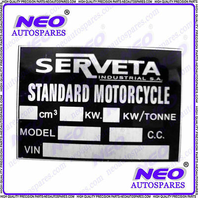 New Unique Quality Replacement Serveta Blank Frame Number Plate