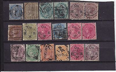 India stamps - selection of Victorian era