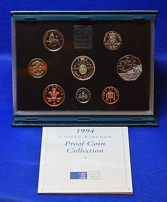 1994 Royal Mint Proof Coin Set In Blue Case With Coa