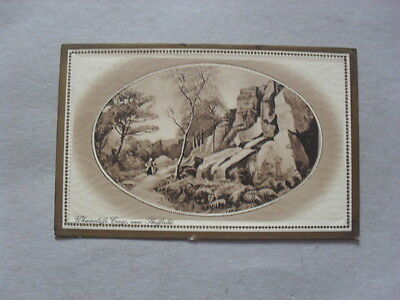 Vintage Postcard - Sheffield 1911 - Wharncliffe Crags - People - Trees
