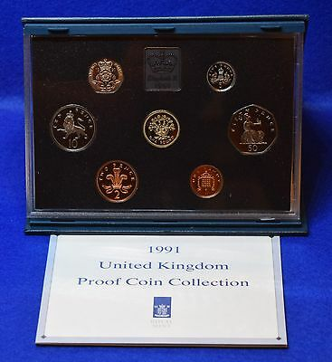 1991 Royal Mint Proof Coin Set In Blue Case With Coa