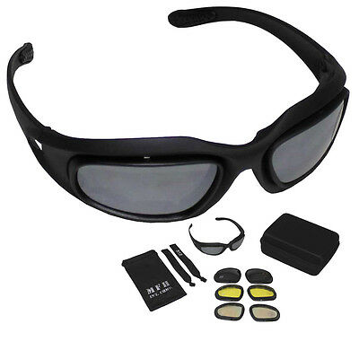 Mfh Army Sports Safety Glasses Assault 4 Lens Military Style Airsoft Sport 25863