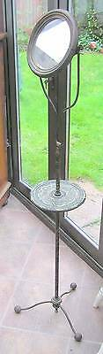 Vintage Antique Wrought Iron Shaving Stand- French?