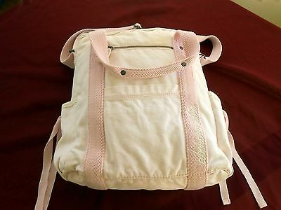 Abercrombie Beach Bag Tote Canvas Pink accents