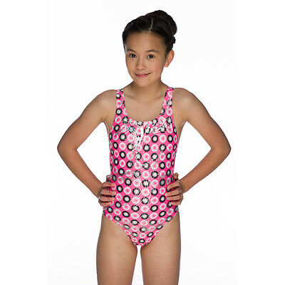 """NEW Maru Girls Holographic Sparkle Swimsuit Swimming Costume Size 24"""""""