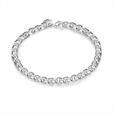 2016 New wholesale jewelry solid 925 SILVER Bracelet bangle Fine Christmas Gift