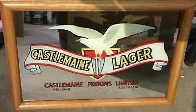 Castlemaine Lager. by Castlemaine Perkins. Bar Mirror. 505mm x 350mm.