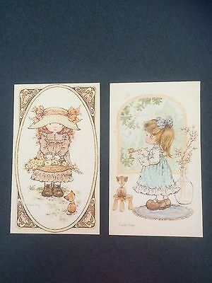 Two Sarah Kay 1970's Greeting Cards Excellent Condition