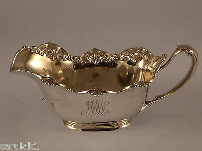 Frank W Smith Large Antique Sterling Silver Gravy Sauce boat Server Shells motif