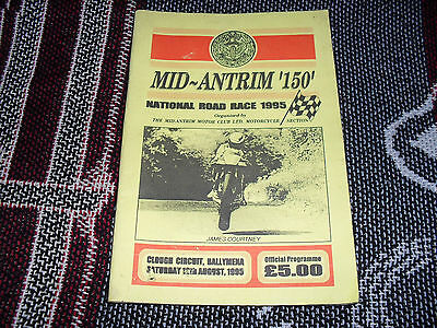 1995 Clough Motor Cycle Road Races Programme 12/8/95 - Mid Antrim 150