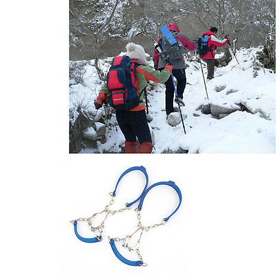 Outdoor Climbing Anti-Skid Chain Six Teeth Crampons Non Slipping Shoe Cover F7