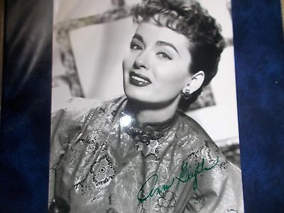 Early 'ann Blyth' Hand Signed, Autographed 10X8 Photo - American Actress