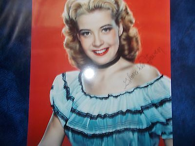 RARE Cinema  actress gloria dehaven hollywood  hand signed 8x10 autograph photo