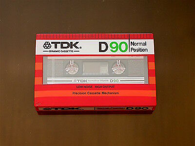 Tdk D-90. (1) Sealed Blank Audio Cassette Tape. New Rare 1982'