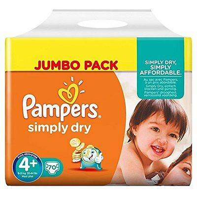 Pampers - Simply Dry - Jumbo Pack - Lot de 2