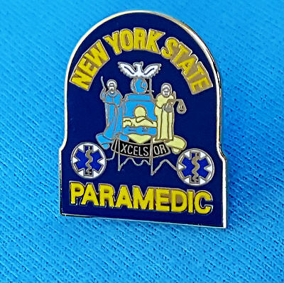"""New York State Paramedic Pin..1"""" in size, Pin Back Attachment"""