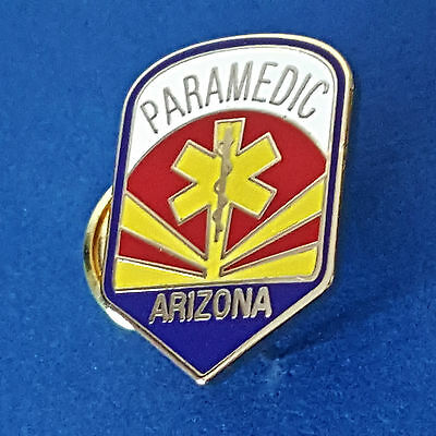 ARIZONA PARAMEDIC PIN -  7/8 in  size, Two Pin Back-Butterfly Attachments