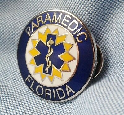"""FLORIDA PARAMEDIC PIN..1"""" in size, Two Pin Back-Butterfly Attachments"""