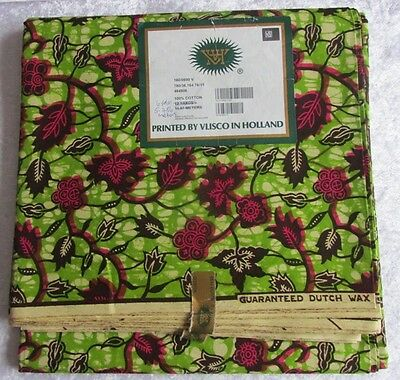 ISBN 14/0690,  Cotton Wax Print by Vlisco Holland 6 yards Width 46''  £72.99