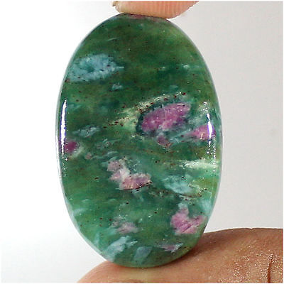 34.50 Cts 100% Natural Ruby Fuchsite Oval Cabochon Loose Gemstone Stone_Artt