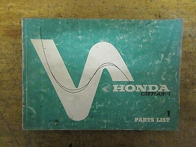 Honda CB750 F1 parts list, spares book genuine