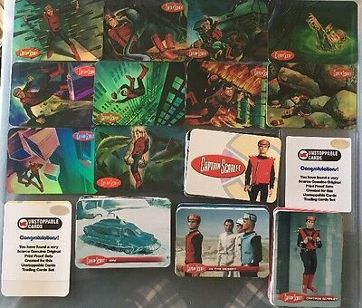 Captain Scarlet Ultra Rare Base & 10 Card Foil Proof Card Set Unstoppable Cards