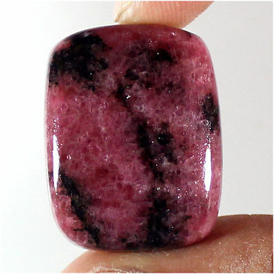 49.30 Cts 100% Natural Best Rhodonite Cushion Cabochon Loose Gemstone Stone_Artt