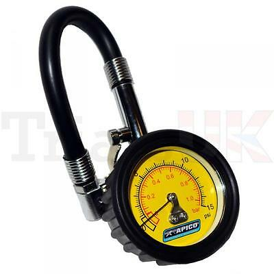 High Accuracy Low Pressure 0-15 PSI Tyre Gauge for bike and tyre valves