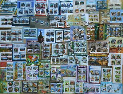 800 all different MINI SHEETS and SOUVENIR SHEETS CTO & MNH Composition  Lot
