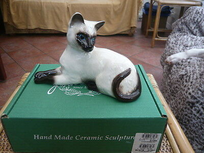 Vintage Boxed Beswick Good Size Siamese Cat 1558 Excellent Condition